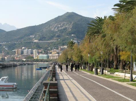 Seaside Promenade in Salerno Italy